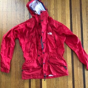 The North Face men's red outer shell jacket rain S